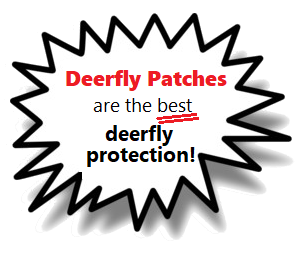 Deerfly Patches are the best deerfly bite prevention!